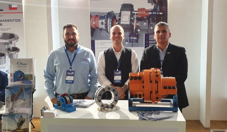 fltr: Matheus Mendes, Carlos Rohrig und Luis Osses, sales manager of Enrique Osses y Cia Ltda